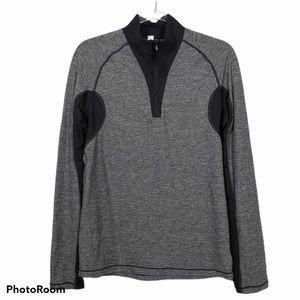 Lululemon Long Sleeve Gray And Black 1/4 Zip Shirt